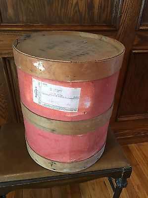 Primitive Vintage Antique wood Coffee Nailed Banded barrel from Chicago USA
