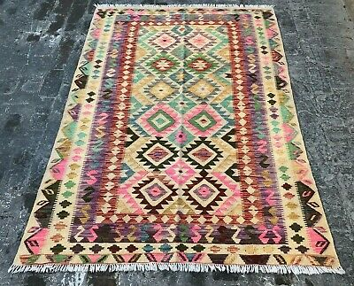 Rugs & Carpets S6614 Handmade Tribal Vintage Wool Traditional Area Kilim Shirazi Rug 204 X 151 Choice Materials