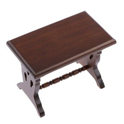 Dollhouse Miniature Wooden Living Dining Room Kitchen Side Table 1:12 Scale C1G0