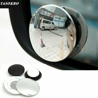 Pair 360 degree Wide angle Car Blind Spot Rearview Mirror Small Round Mirror G#