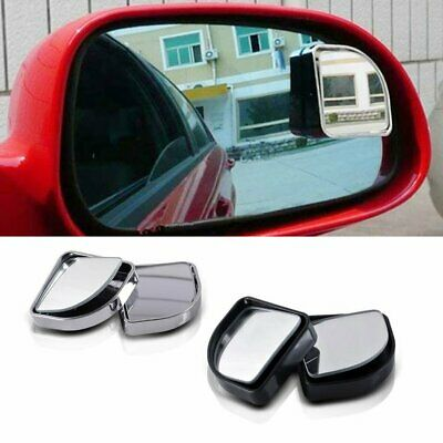 2 x Blind Spot Car Mirror 360° Wide Angle Adjustable Rear View Convex Glass FU