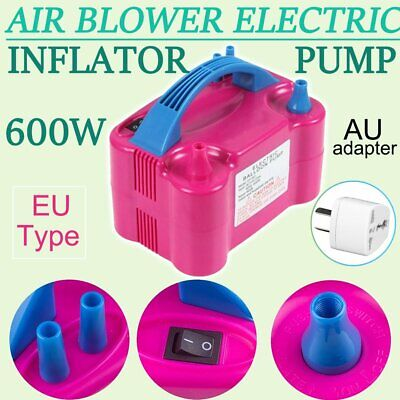Portable 600W High Power Two Nozzle Air Blower Electric Balloon Inflator Pump FU