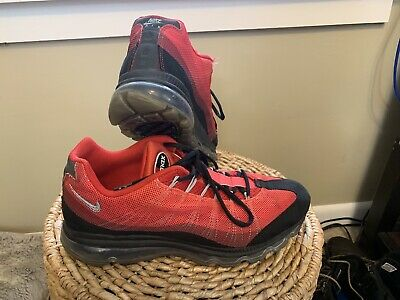 Details about Nike Air Max 95 360 Dynamic Flywire sz 9.5 Running Shoes Black & Red