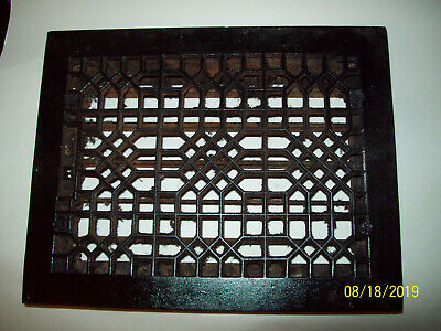 Antique Cast Iron Heat Grate Floor Register Vent 11 x 14 -  f/ 9x12  Adj.