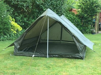 NEW - French Army 2 Man Tent - Olive Green - Including Poles and Pegs