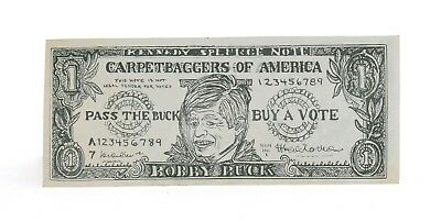 Rare Vintage 1968 Anti Bobby Kennedy Political Dollar Republican Campaign