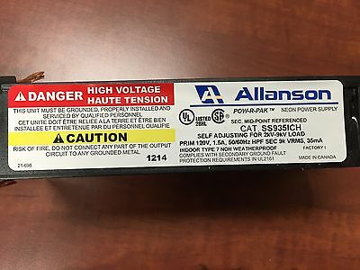 Allanson SS935ICH Self Adjusting 2K-9KV, 35mA Electronic Neon Sign Transformer