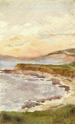 F.A. Eastwood, Coast from Brook, Isle of Wight - Late 19th-century watercolour