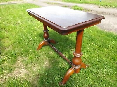 "Victorian Mahogany Long Side Table. Good Condition. 37"" W. All original."
