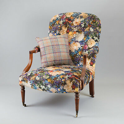George IV mahogany framed armchair, newly reupholstered  - UK DELIVERY INCLUDED