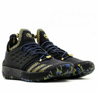 01c8a7254924 Adidas Harden Vol 2 MVP Black Gold Royal Basketball Shoes James Harden MVP