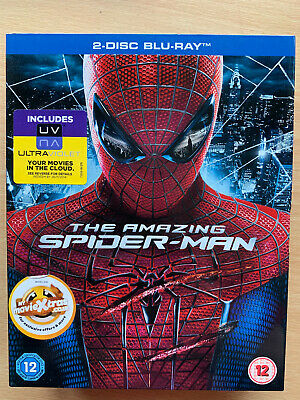 The Amazing Spider-Man Blu-ray 2012 Marvel Universe Film 2-Disc w/ Slipcover