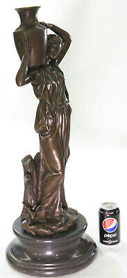 Handcrafted Museum Quality Classic Victorian Girl Artwork Bronze Sculpture Statu