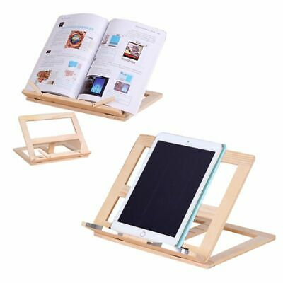 Wooden Frame Reading Bookshelf Bracket - Book Reading Bracket Tablet PC Sup O1F6