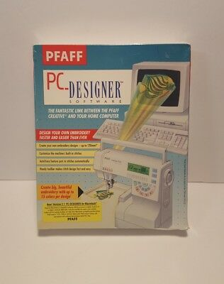 PFAFF PC-Designer Software 2.1 cables 7570 7550 1475 for Macintosh NEW SEALED!!!