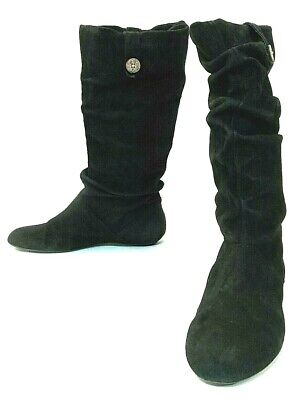 4bf12d32a0a UGG AUSTRALIA HIGHKOO 5765 Women's US 8.5 Black Suede Tall Slouchy Fashion  Boots