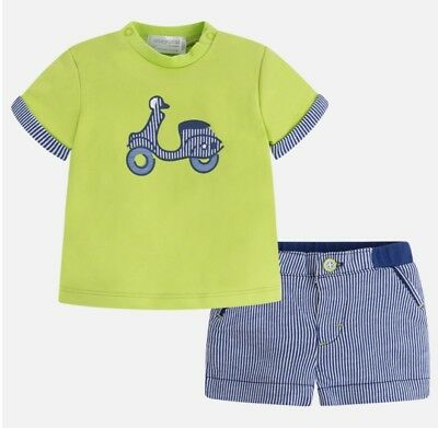 09a4434d8 MAYORAL BOYS SHORTS set, navy blue shirt with matching shorts NWT ...