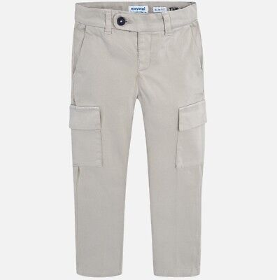 New Boys Mayoral Chino Trousers Cargo Fit, Age 2 Years , (4500)