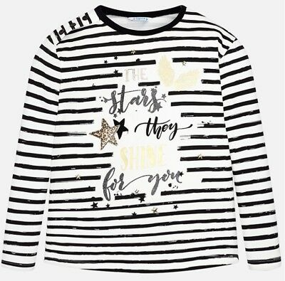 New Mayoral Striped Long Sleeved T-Shirt , Girls Age 8 years , (7058)