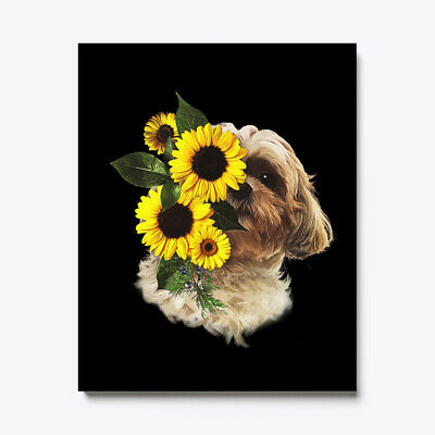 SURVIVE CHRISTMAS ON Shih Tzu And Wine Canvas Print - $14 99 | PicClick