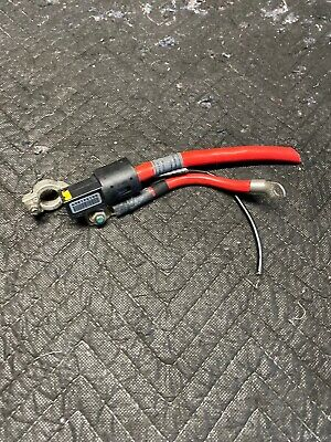 BMW RED POSITIVE BATTERY CABLE TRUNK TO ENGINE DETONATOR FUSE OEM E38 7 SERIES