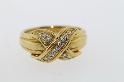 5aa77b7d4cd3b VINTAGE 1990 TIFFANY & Co. 18K Yellow Gold Large Signature