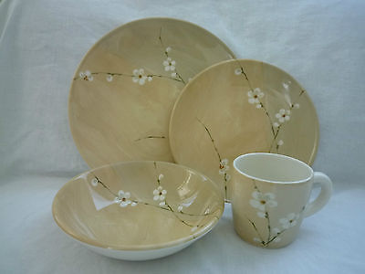 Royal Stafford Blossom Radio Dinnerware, 4 pc Set for 1, Made in England