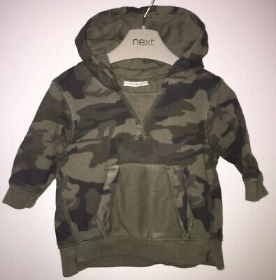 Boys Age 0-3 (14lbs) Next Camo Hooded Top