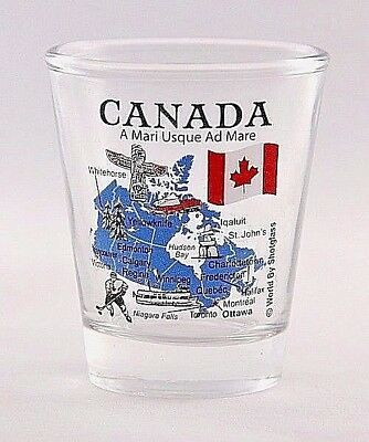 Canada Landmarks And Icons Collage Clear Shot Glass Shotglass