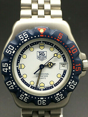 Mens Tag Heuer Wa1219 F1 Formula 1 Watch White Face Blue