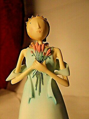 Demdaco Claire Stoner Most Sincerely Bridesmaid In A Blue Dress Figurine Rare