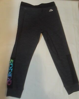 Adidas Girls size 10/12 Climalite running pants Holographic logo on one side
