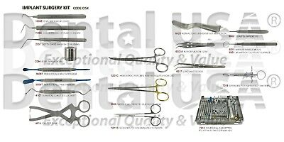 IMPLANT SURGERY KIT DENTAL INSTRUMENTS (18 pcs) BY DDENTAL USA CISK