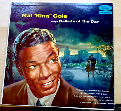 50'S Hi End Collector Vocal Lp-Nat King Cole-Ballads Of The Day-1S Press 1956 Fn