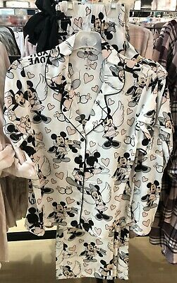 Brand New With Tags Primark Disney Mickey And Minnie Mouse Faux Silk Pyjamas