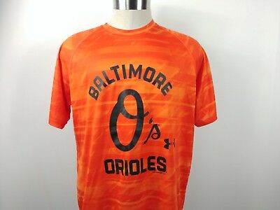 the latest 9f4a9 021f8 Under Armour Mens Baltimore Orioles Heat Gear Performance Tee Shirt Loose  Size L