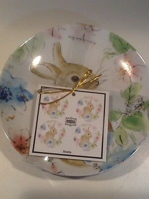 222fifth Bastia Bunny Easter 4 New Appetizer/dessert Plates