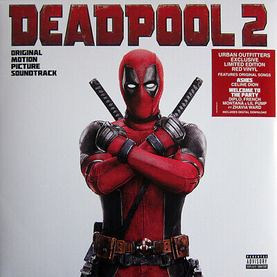 Deadpool 2 Soundtrack 180-GM RED COLOR Vinyl LP Urban Outfitters Exclusive OST