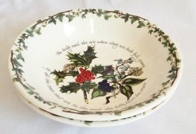 NEW Portmeirion The Holly and The Ivy Pasta Bowls x 2