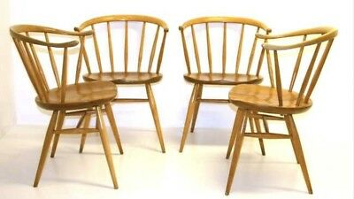 Vintage  Ercol Cowhorn Chairs- 2 Available 1960s.  Fully Restored Condition.