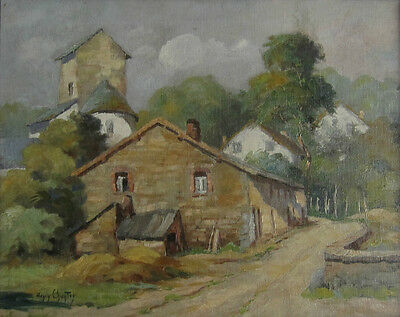 Antique Belgian Oil Painting, SignedHenry Chantry (1845-1931)Painter Architect
