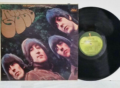 THE BEATLES Rubber Soul APPLE Stereo LP Early Press EXCELLENT Vinyl No Barcode