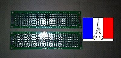 PCB double face Cartes Prototypage (board) 2x8 cm (Arduino, Raspberry,  ...)  x2