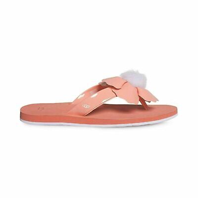 ad099ce096a UGG POPPY FUSION Coral Flip Flops Women's Flat Sandals Size Us 8/Uk ...