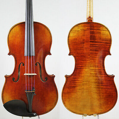 Oil Antique Vanish!A Strad Viola 16.5 inch Copy!  #5611 Deep Warm Tone!