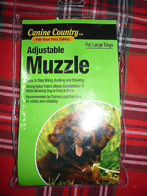 Dog Muzzle No 20605 (Large Dog) Canine Country Adjustable
