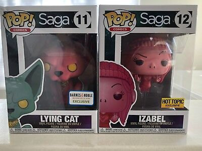 SAGA FUNKO POP! Pink IZABEL HOT TOPIC & LYING CAT Barnes And Noble Exclusive Lot