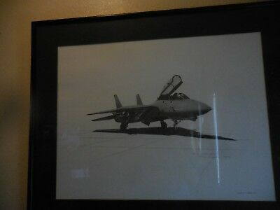 Grumman F 14 Tomcat Limited Edition 170/500 lithograph by Lisa Venema 1988