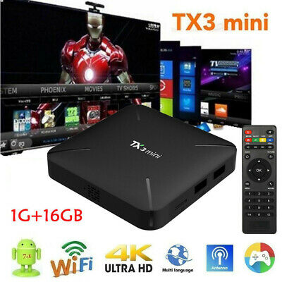 TX3 Mini Android 7.1 TV Box S905W 4K HD H.265 Quad Core  WiFi Médias Player