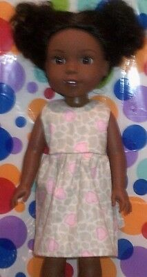 """14.5/"""" Doll Clothes-fit American Girl-Wellie Wishers-Party Dress-Pk Floral Spkl."""